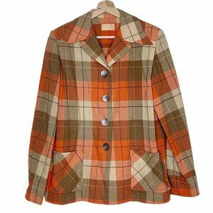 Pendleton Vintage Orange Shacket Virgin Wool Shirt